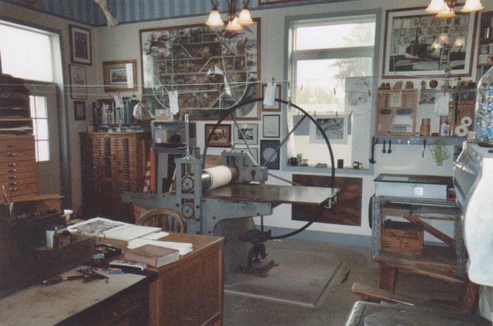 Arthur Geisert's Studio