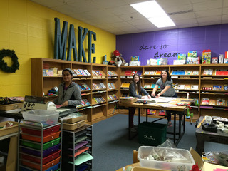 Maker Club #1 - Paper crafting station with Madeline, Neharika and Sarah