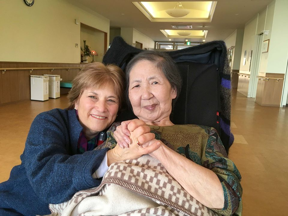 Caren Stelson and Sachiko in Nagasak