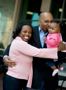 Kwame and His Wife and Daughter
