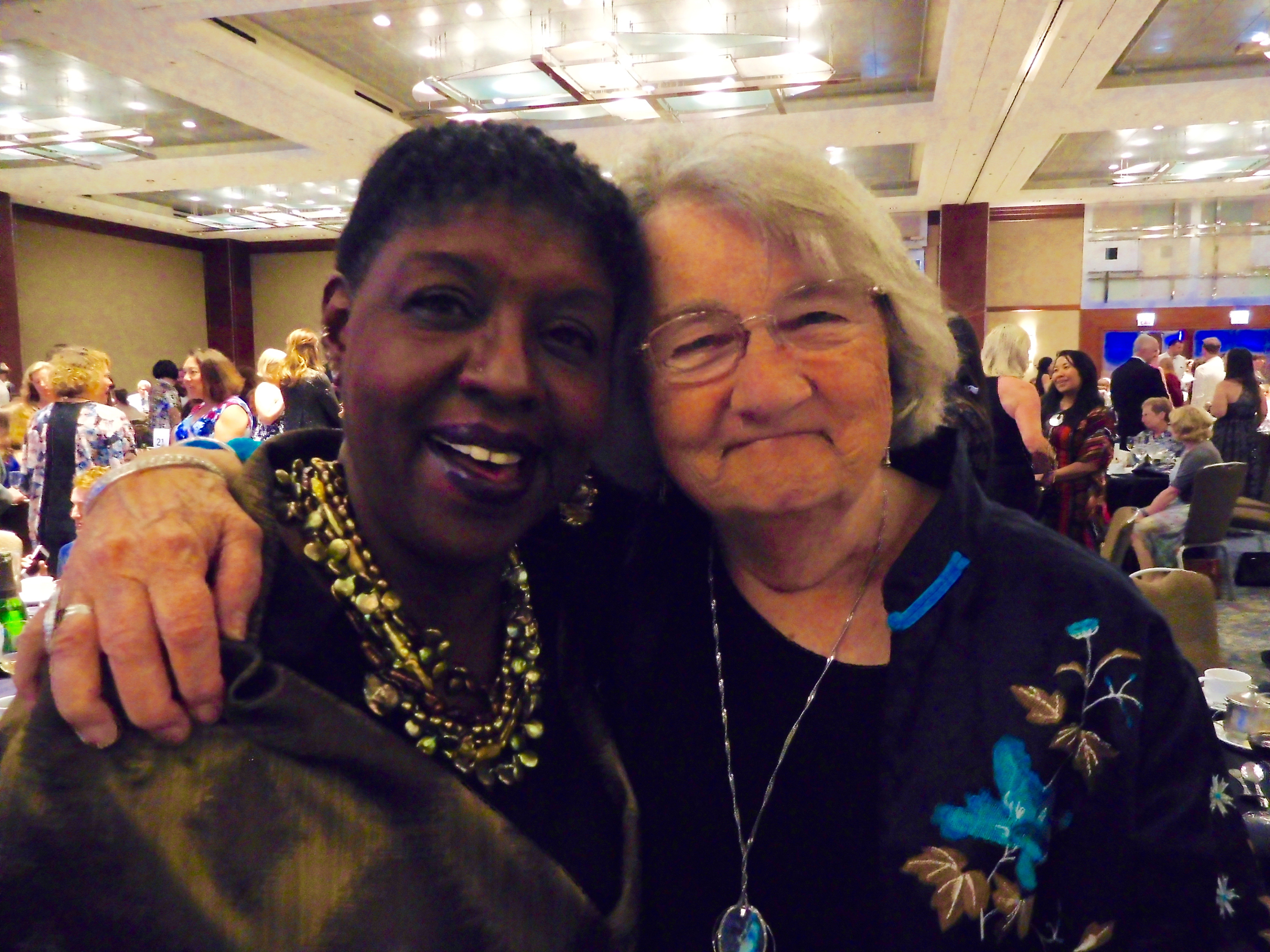 Nikki with Katherine Paterson