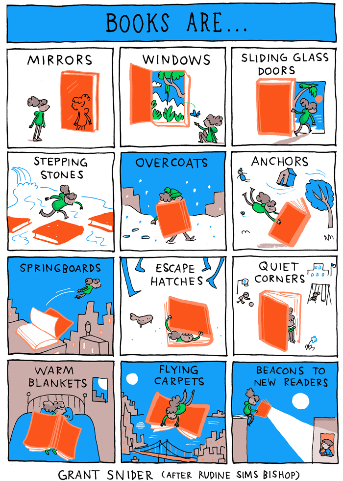 Books Are comic by Grant Snider