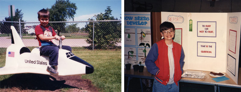 Drew Brockington childhood photos