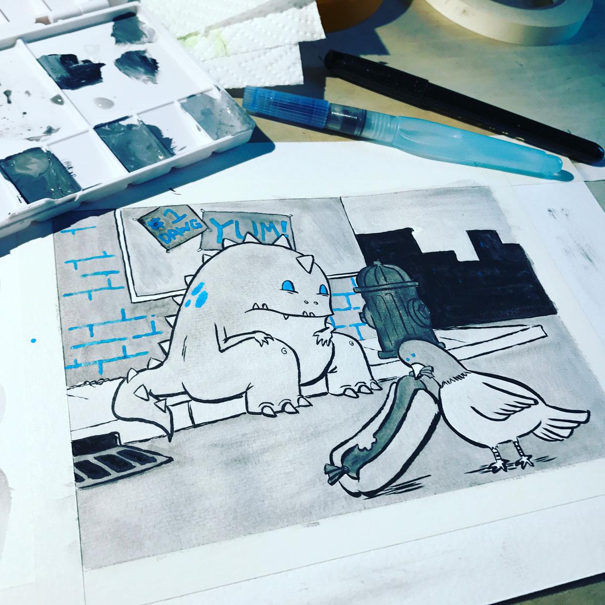 """Drew Brockington's """"Hanry"""" sketches"""